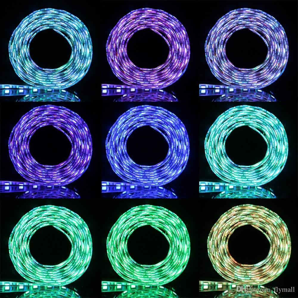 50CM 1M 2M USB LED Tira de luz 5V 5050 3528 SMD IP65 Resistente al agua RGB Cálido / Frío Blanco Flexible TV Fondo Iluminación Tira Luz de Navidad