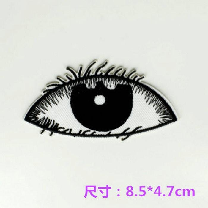 Cartoon cloth patch clothes pants decoration repair hot ironing cartoon cloth badge Decal black and white eyes