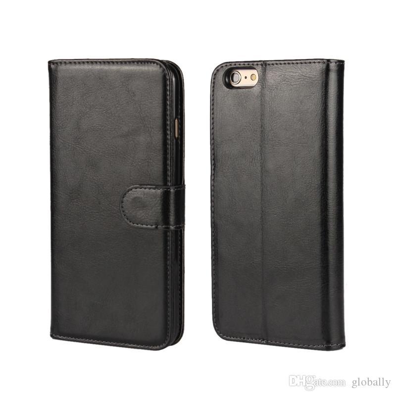 2 en 1 imán magnético Cubierta retro desmontable de cuero desmontable para iPhone SE 5 5S 6 6S 7 PLUS GALAXY S8 Plus
