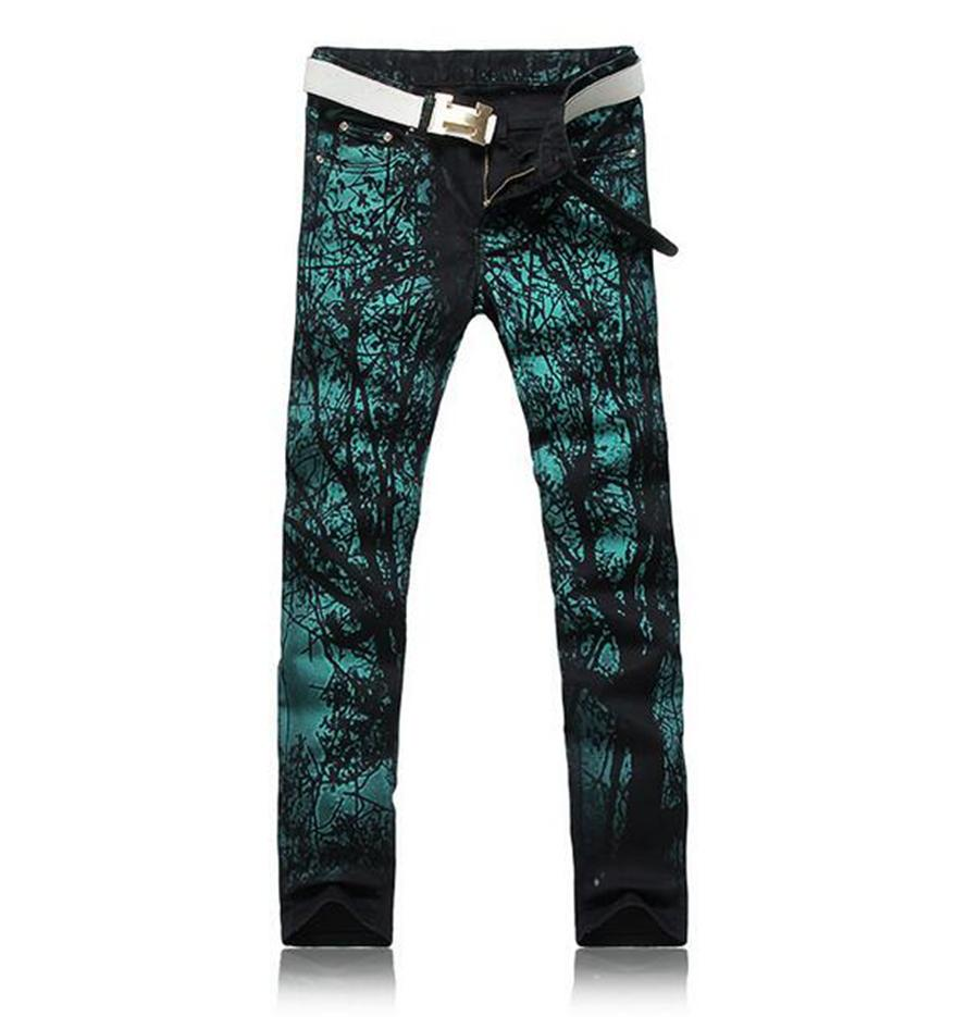 Man the new trend of cultivate one's morality personality cotton coloured drawing or pattern printing denim trousers /28-38