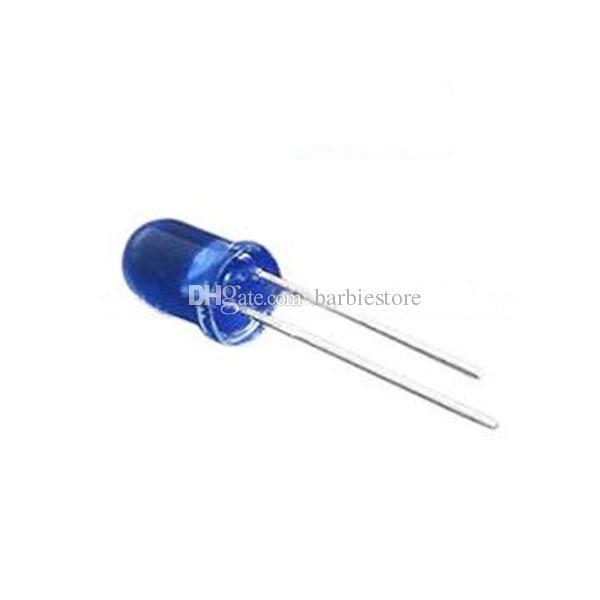 Componentes electrónicos 100 piezas LED 5 mm luz azul bombilla de lámpara super brillante azul nuevo B00227 BARDO