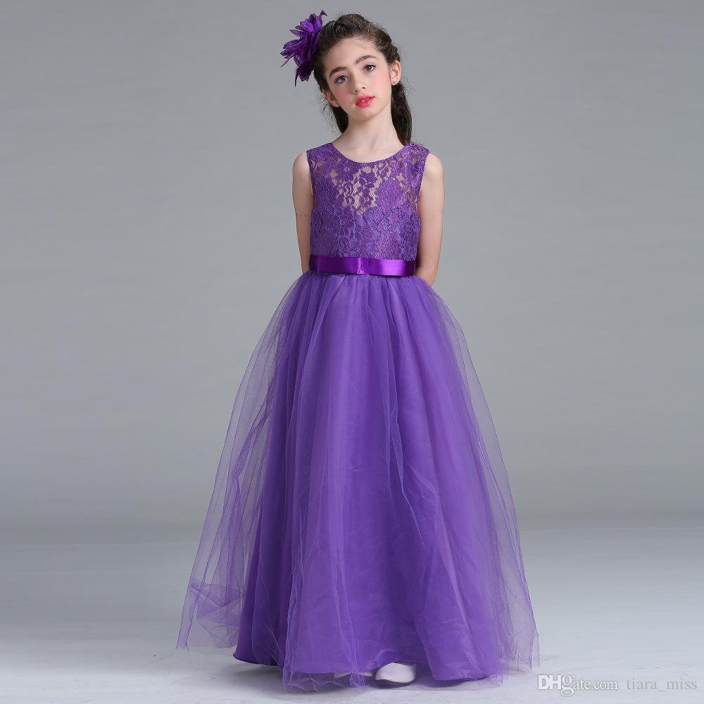 Tulle lace a line round neck flower girl dresses sleeveless floor tulle lace a line round neck flower girl dresses sleeveless floor length navy blue champagne girl dress wholesale girl dress shoes girls bridesmaid shoes ombrellifo Choice Image