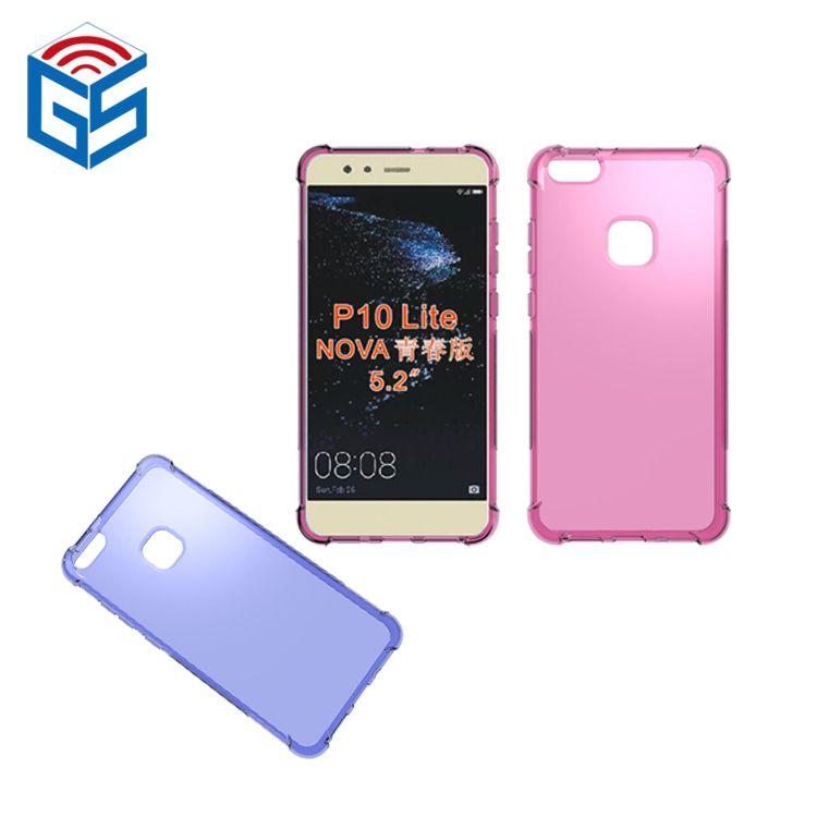 buy popular 1c5f4 a1cb7 For Huawei P10 Lite Nova Lite WAS-L03T WAS-LX1 / P Smart Enjoy 7S Shock  Absorption Soft Cover TPU Clear Case