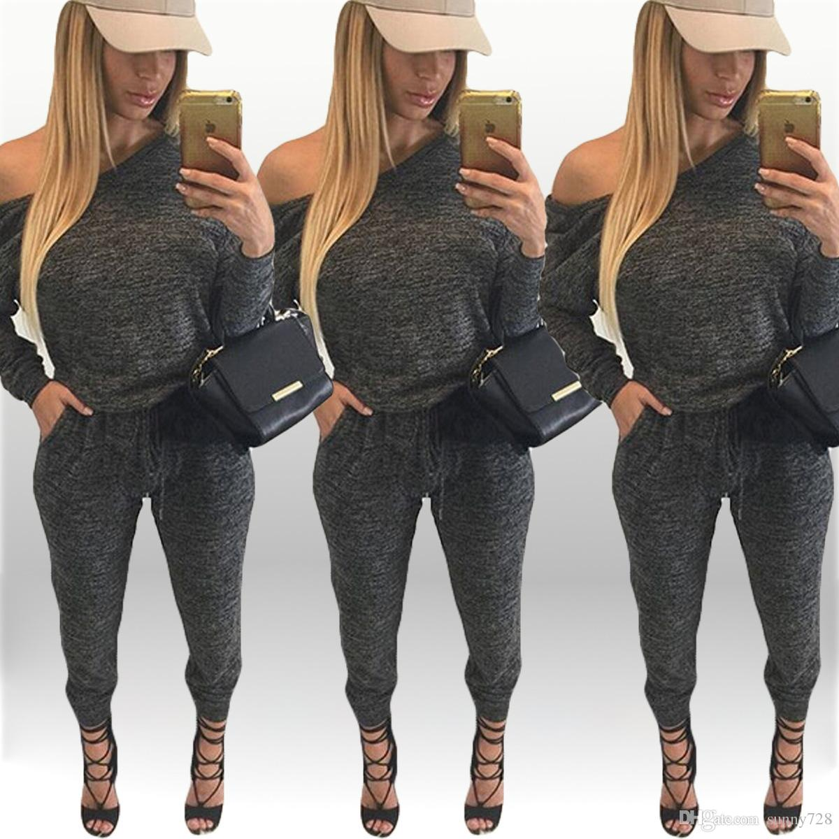 New Style Fashion Women Tracksuits Long Sleeve Cotton Cheap Women Jumpsuits Loose Casual Women Sport Clothing 2016 Hot Sale Tracksuits
