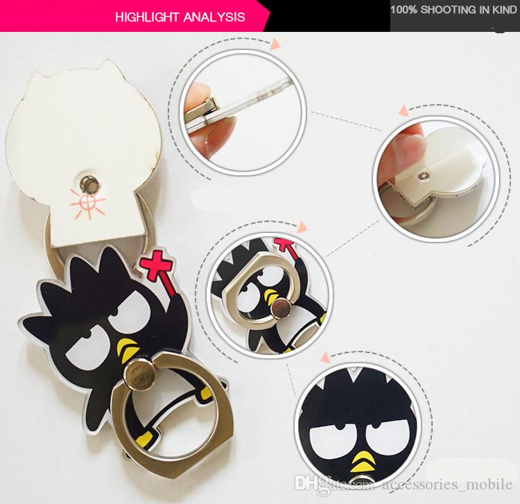 Mobile phone holder metal ring crayon small new lazy paste clip cash available can be customized