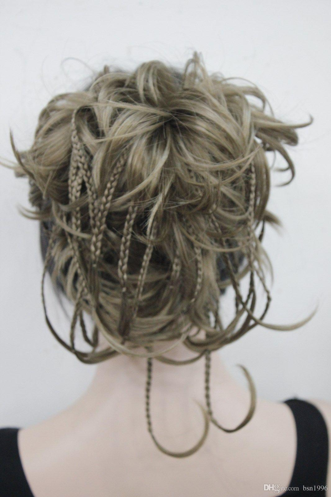 """beautiful charming new hot Elegant Hivision Curly 14"""" Blonde mix Synthetic Hair Full Women's Short"""
