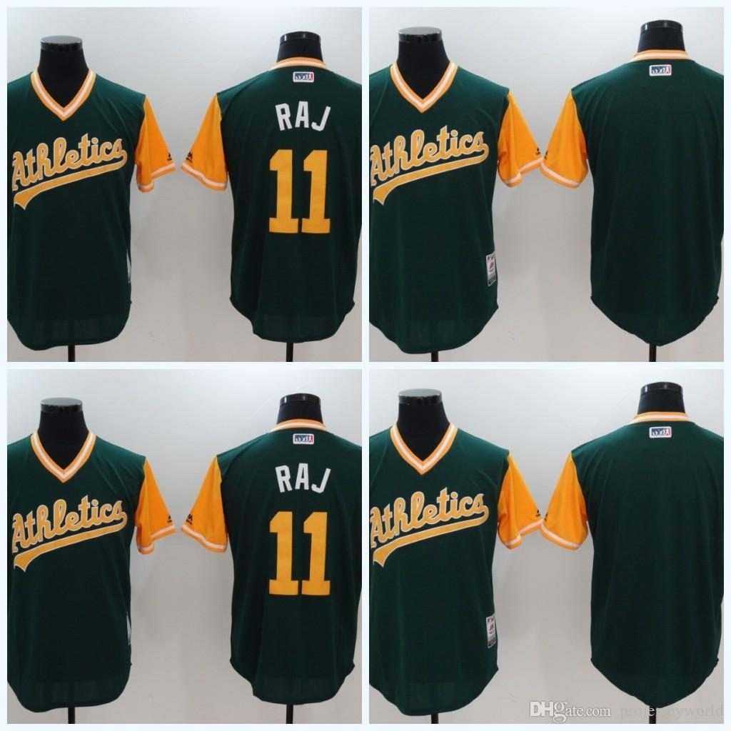 c107412b3 ... 11 Rajai Davis Raj Blank Green Jerseys 2017 Little League World Series Player  Weekend Nickname Oakland ...