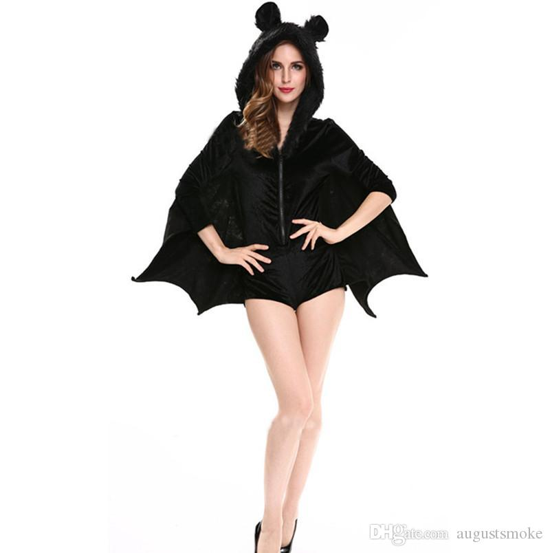 New Hot For Women Animal Costume Sexy V&ire Costume Adult Hooded Coat Halloween Cosplay Costume Black Clothing Good Halloween Themes Costumes For 7 People ...  sc 1 st  DHgate.com & New Hot For Women Animal Costume Sexy Vampire Costume Adult Hooded ...