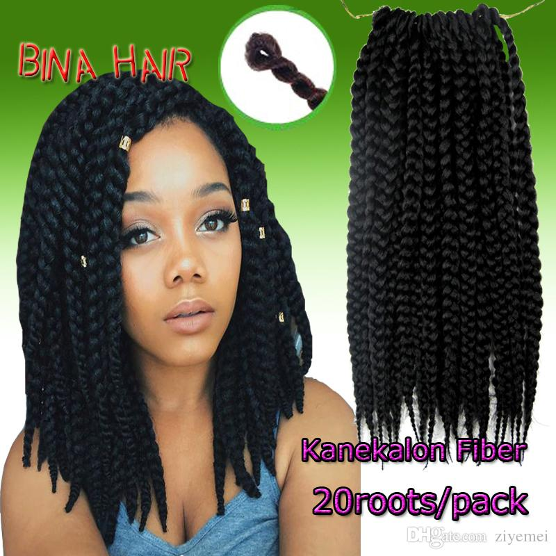 2019 14inch Crochetids Kanekalon Black Color Mambo Senegal Twist Box Id Synthetic Hair Extensions 20roots Pack From Ziyemei 28 15 Dhgate Com