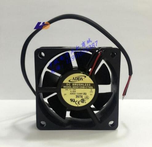Original ADDA AD0612HB-C70GL ventilador inversor 60 * 60 * 20 0.16A 12V 2 alambre
