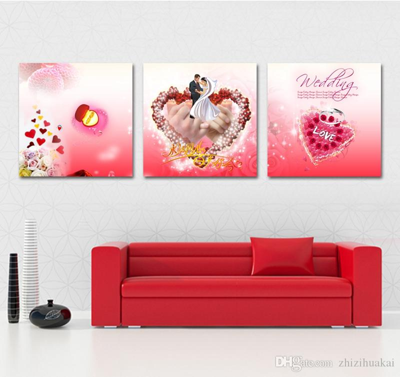 Wall decoration no frame picture Canvas Prints wedding ring cartoon dog rabbit girl shell Pearl Beijing opera penguin