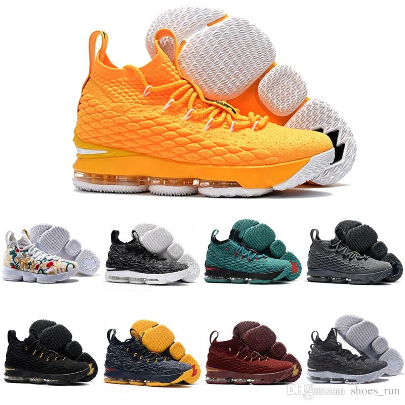 1f77f3f06f5 nike lebron 15 shoes orange white  men women basketball shoes lebron 15  sports shoes mens trainer comfortable sneakers new color with s