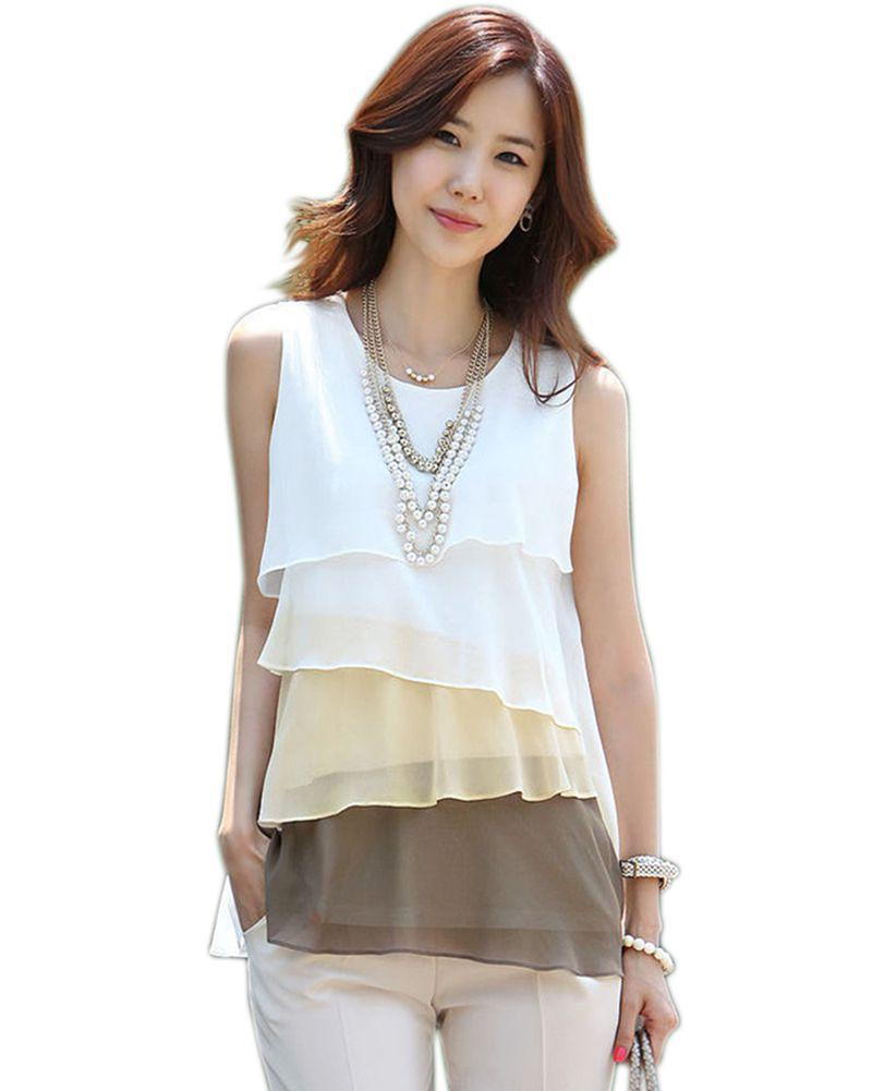 Online Cheap Fashion New Multi Layered Shirts Women Tops Summer ...