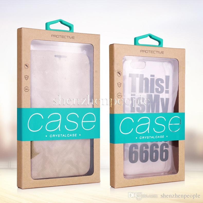 Colorido Diseño de personalidad Lujoso Paquete de caja de papel de embalaje de la ventana de PVC para el teléfono móvil Caja del teléfono celular Paquete de regalo Accesorios DHL