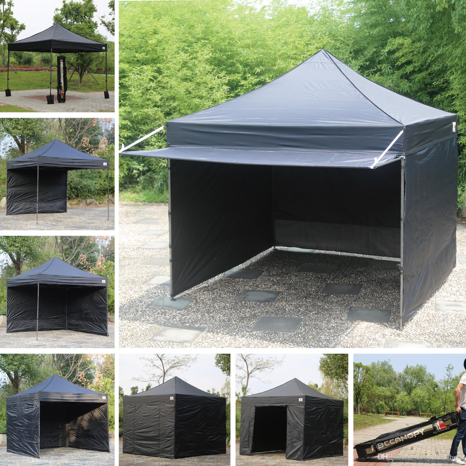 2018 10x10 Abccanopy Easy Pop Up Canopy Tent Instant Shelter Deluxe Portable Market Awning Black From Cissy5zxcvbnm 24116