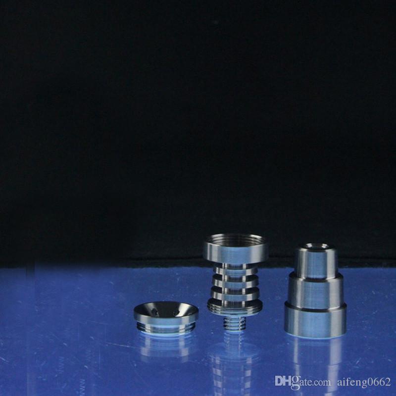 Herramientas de mano Fumadores Acceossories 4inches Clavo de titanio sin doma con 14 / 18mm Junta masculina / femenina para tubería de agua de vidrio.