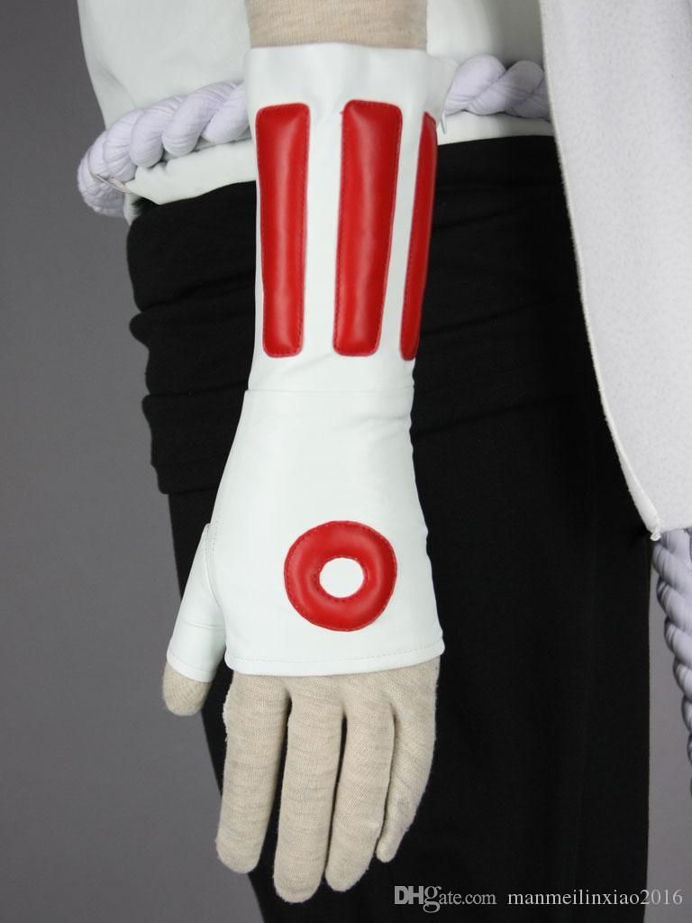 Tueur d'abeille Naruto Cosplay blanc unisexe tenue ensemble complet costume parfait pour les hommes Sixe XS -3 XL