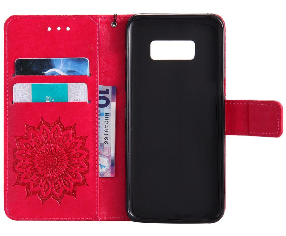Flip Cover For Samsung Galaxy S8 S7 S6 S5 Case Luxury Leather Card Sunflower For Samsung Galaxy S8 Plus S7 S6 edge Case