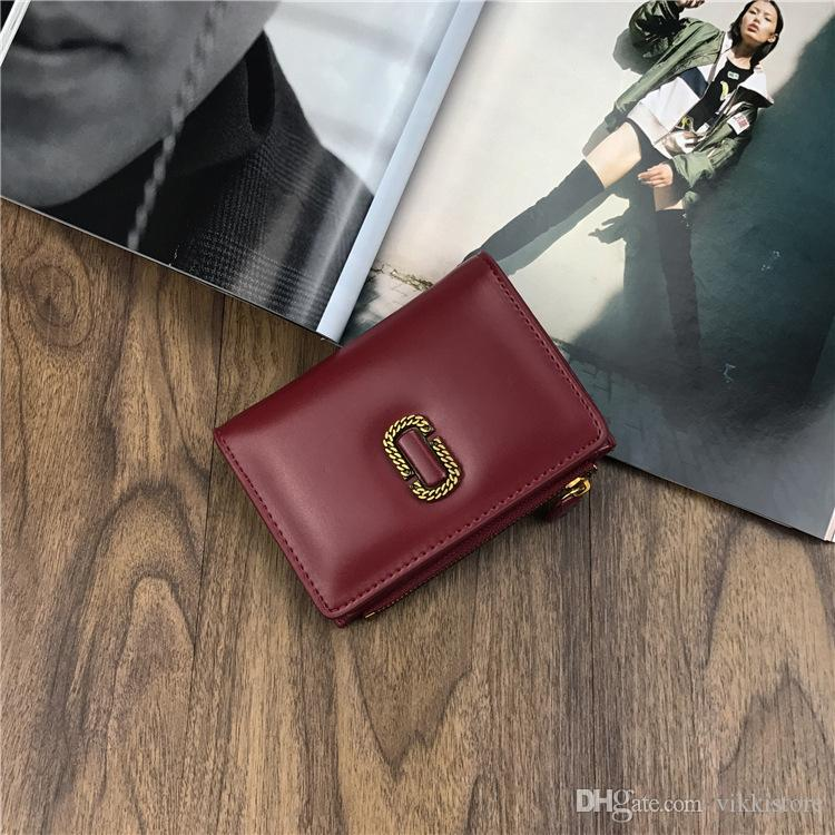 Designer Retro Long Wallet Short Zipper Small Wallets black Brown Leather Wallet Tide Purse Lady PU Leather Purse For Woman