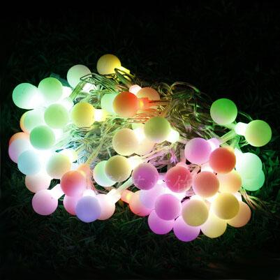 Colorful round bulb string lights 110 220v 56 led string lights colorful round bulb string lights 110 220v 56 led string lights wedding twinkle decorationoutdoor lights string outdoor light strings from aloadofball Choice Image