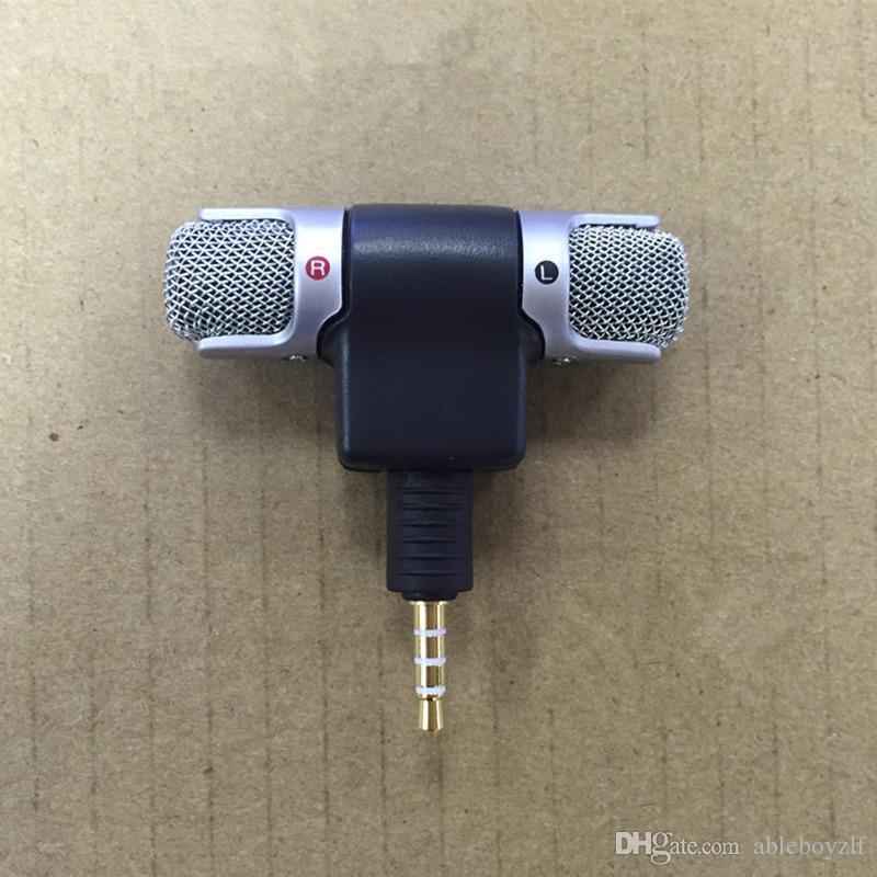 Mini grabadora profesional micrófonos de 3.5 mm de voz estéreo Micrófono de micrófono digital portátil para teléfonos inteligentes de la PC de buena calidad