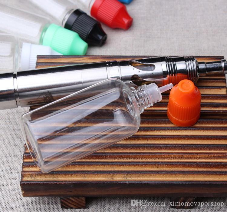 Garrafas vazias melhor Sell E Líquido PET 5ml 10ml 15ml 20ml 30ml 50ml Com longa e fina extremidade do aplicador e Childproof Cap E suco de plástico Ecig Bottle