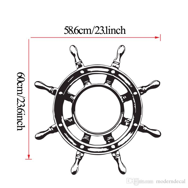 Ship Wheel Steering Wall Decals Vinyl Nautical Sign Wall Stickers Kids Bedroom Home Decor Stickers For Wall
