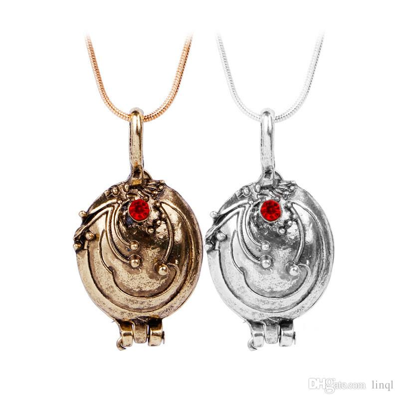 New The Vampire Diaries Necklace Elena Gilbert Vintage Vervain Verbena Pendant Photo Locket Jewelry For Men And Women NAE09