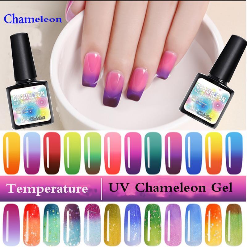 New Product Gel Nail Polish Temperature Change Nail Color UV LED ...