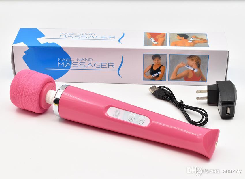 30 vitesses rechargeable baguette magique puissant Massager corps Vibromasseur clitoridien AV Vibrateurs Adult Sex Toys pour Couples Sex Products