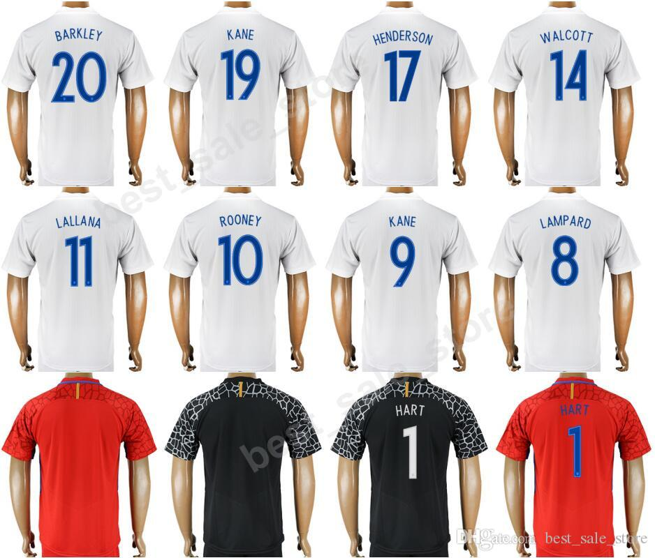England Soccer Jerseys 2018 World Cup 9 Harry Kane Football Shirt Kit 10  Wayne Rooney 8 Frank Lampard 1 Joe Hart 4 Steven Gerrard 19 KANE UK 2019  From ... 3c71fdc420d0