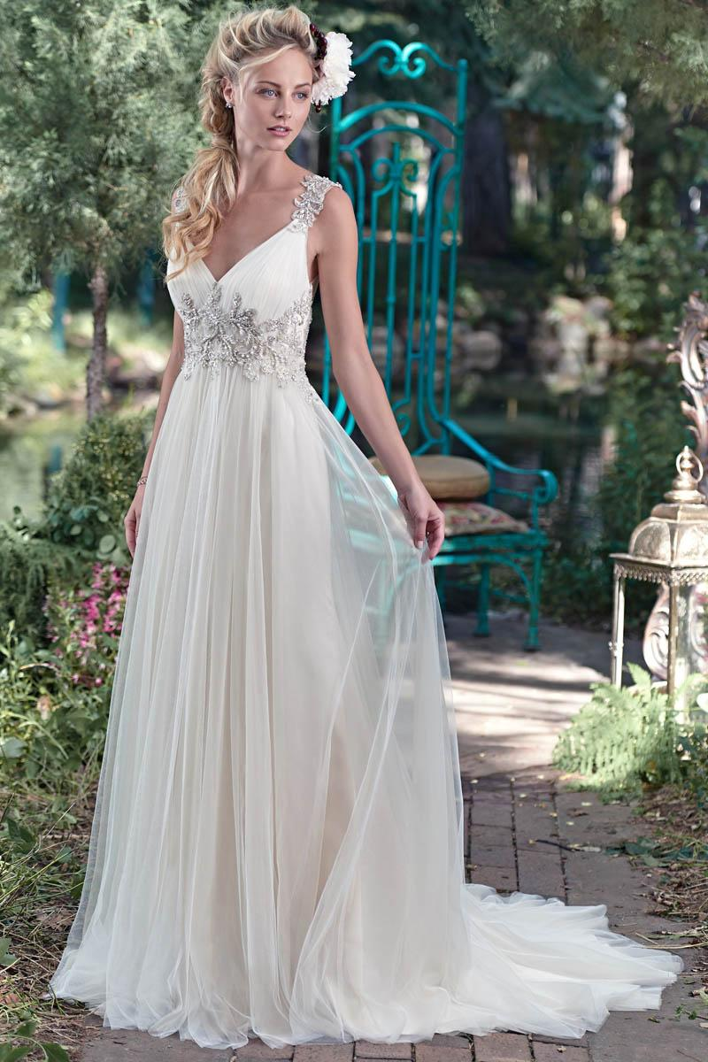 See larger image2016 Woman Princess Wedding Dresses V Neck A Line Chiffon Illusion  . A Line Princess Wedding Dresses. Home Design Ideas