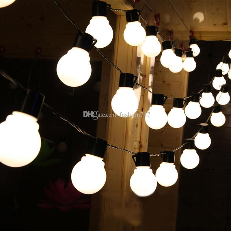Charming Novelty Outdoor Lights Part - 11: Cheap Novelty Outdoor Lighting 5cm Big Size Led Ball String Lamps Black  Wire Christmas Lights Fairy Wedding Garden Pendant Garland Commercial Led  String ...