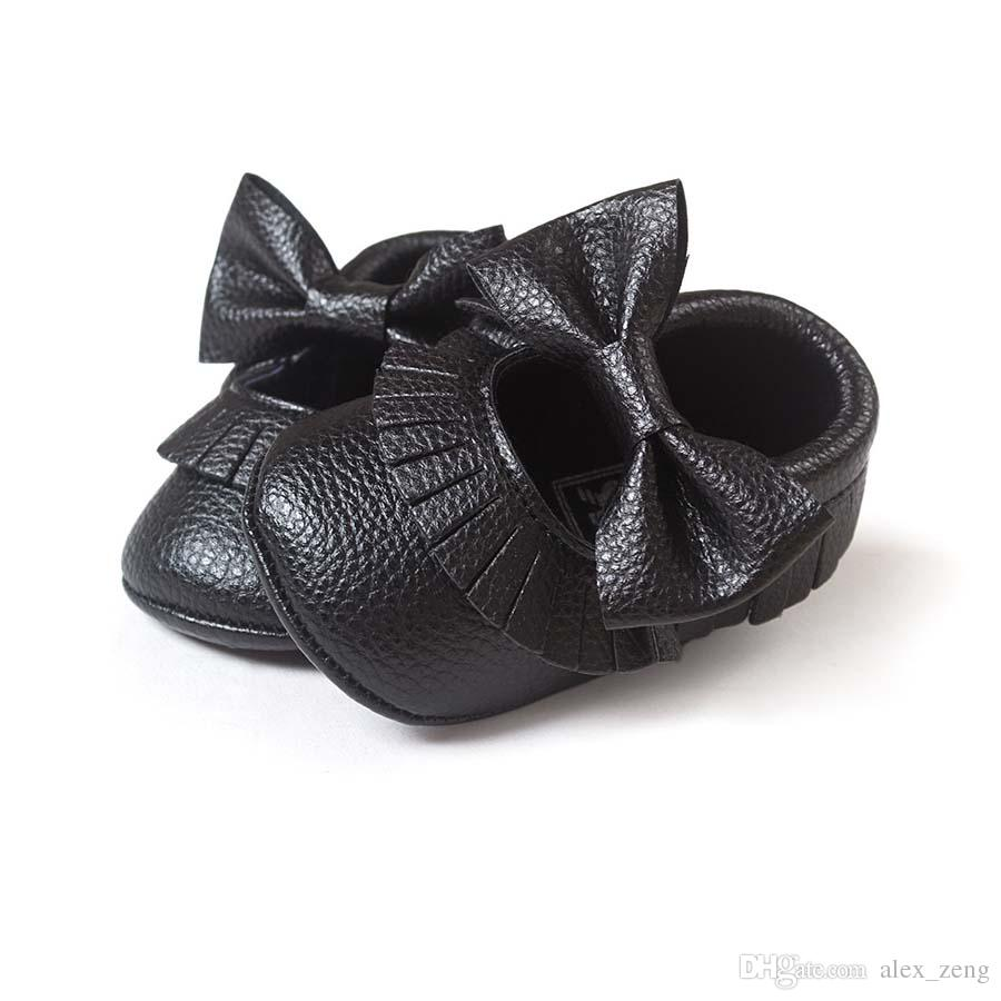2016 Baby Soft PU Leather Tassel Moccasins walker shoes baby Toddler Bow Fringe Tassel Shoes Moccasin choose freely