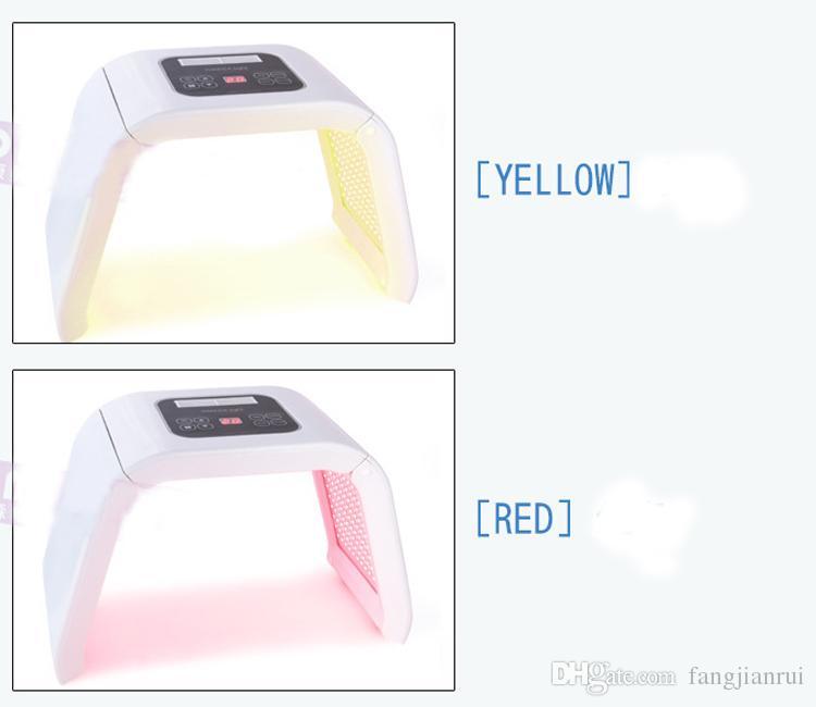 LED Lumière PDT Système Machine De Beauté avec Bleu Rouge Vert Jaune Lumière Beauté Instrument De Beauté Date certification ce 3/4 couleur photon led peau rej