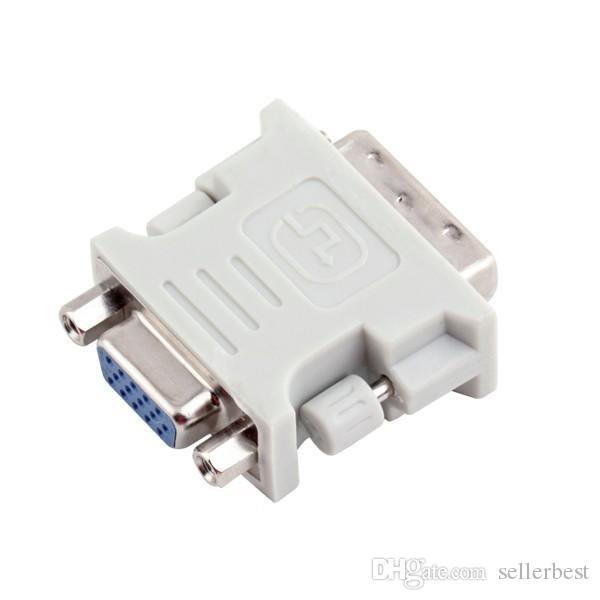 DVI DVI-I Masculino 24 + 5 24 + 1 Pin para VGA Fêmea Video Converter Adapter Plug para DVD HDTV TV D