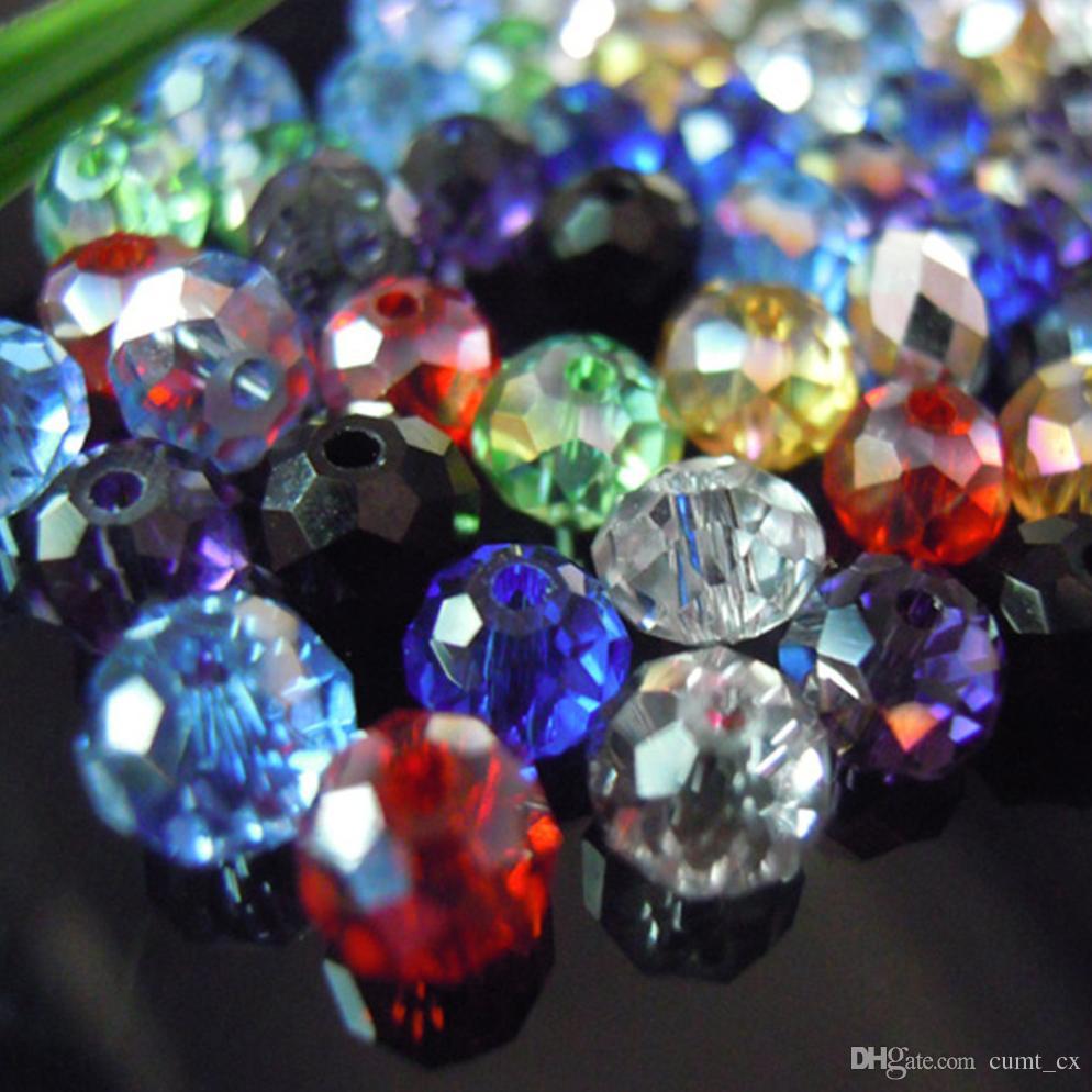 Смешанные цвета 4*6 мм 200 шт. Rondelle Австрия граненый Кристалл стеклянные бусины свободные распорку круглые бусины для изготовления ювелирных изделий