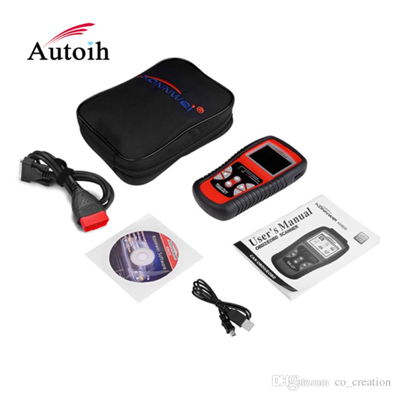 KW830 OBDII OBD2 EOBD Scan Tool Auto Diagnostic Scanner for Reading and Clearing Vehicle Trouble Codes