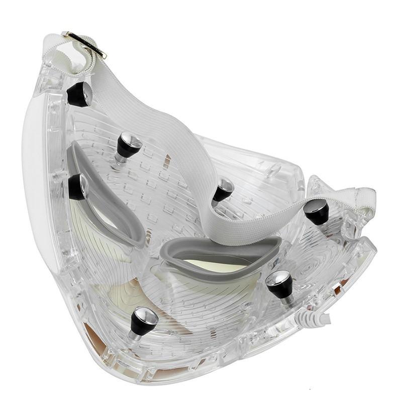 LM001 PDT 7 LED 빛 치료 얼굴 아름다움 기계 LED 얼굴 목마 피부 미백 장치 dhl 자유로운 선적을 위해 Microcurrent로