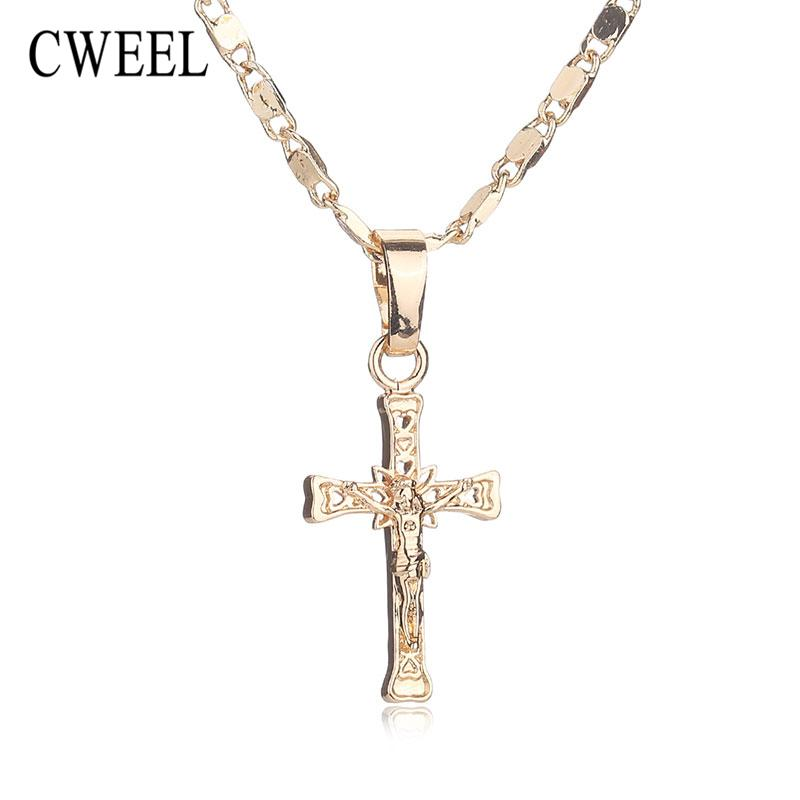 Wholesale Cweel Trendy New Gold Color Jesus Necklace For Women ...