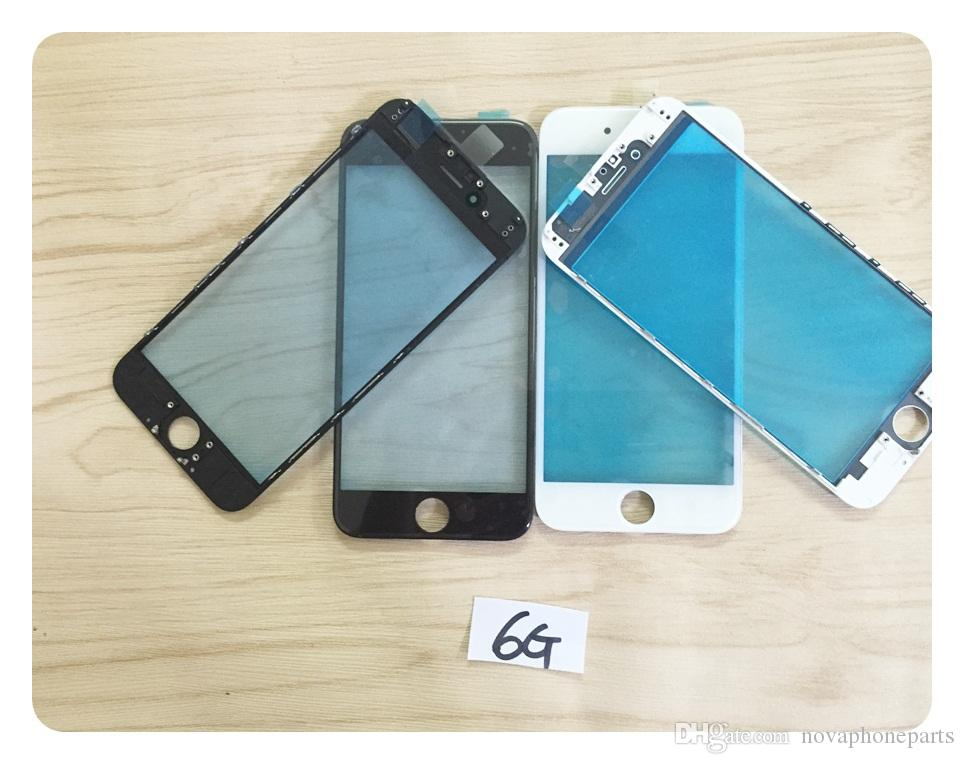 A++ Glass Lens For iphone 5 5G 5c 5s 6 6s 4.7' 6g plus 5.5' LCD Display Digitizer Screen Glass Lens with Frame ; DHL free