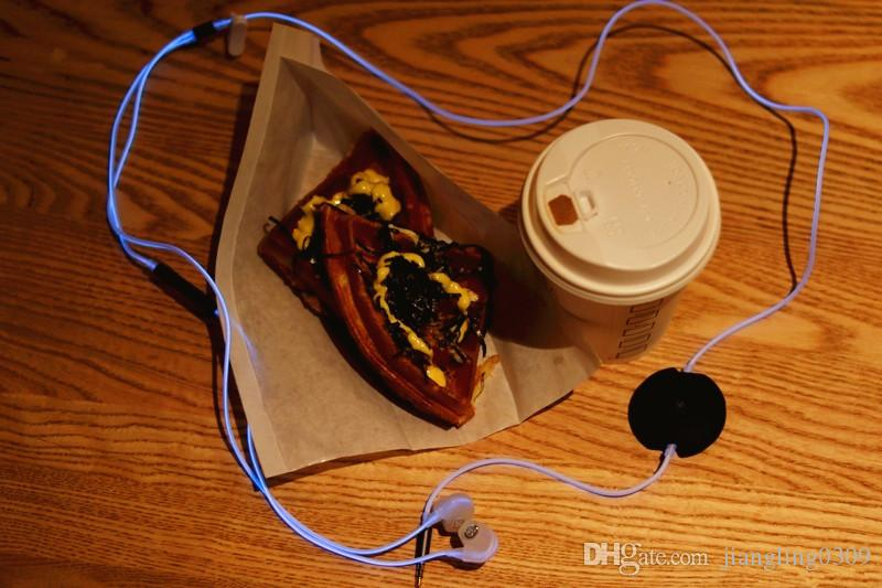 Creative Technology Sound simple play illuminate earphone HIFI blue emitting Music sport wired in-ear headphone Earplug for cell phone MP3/4