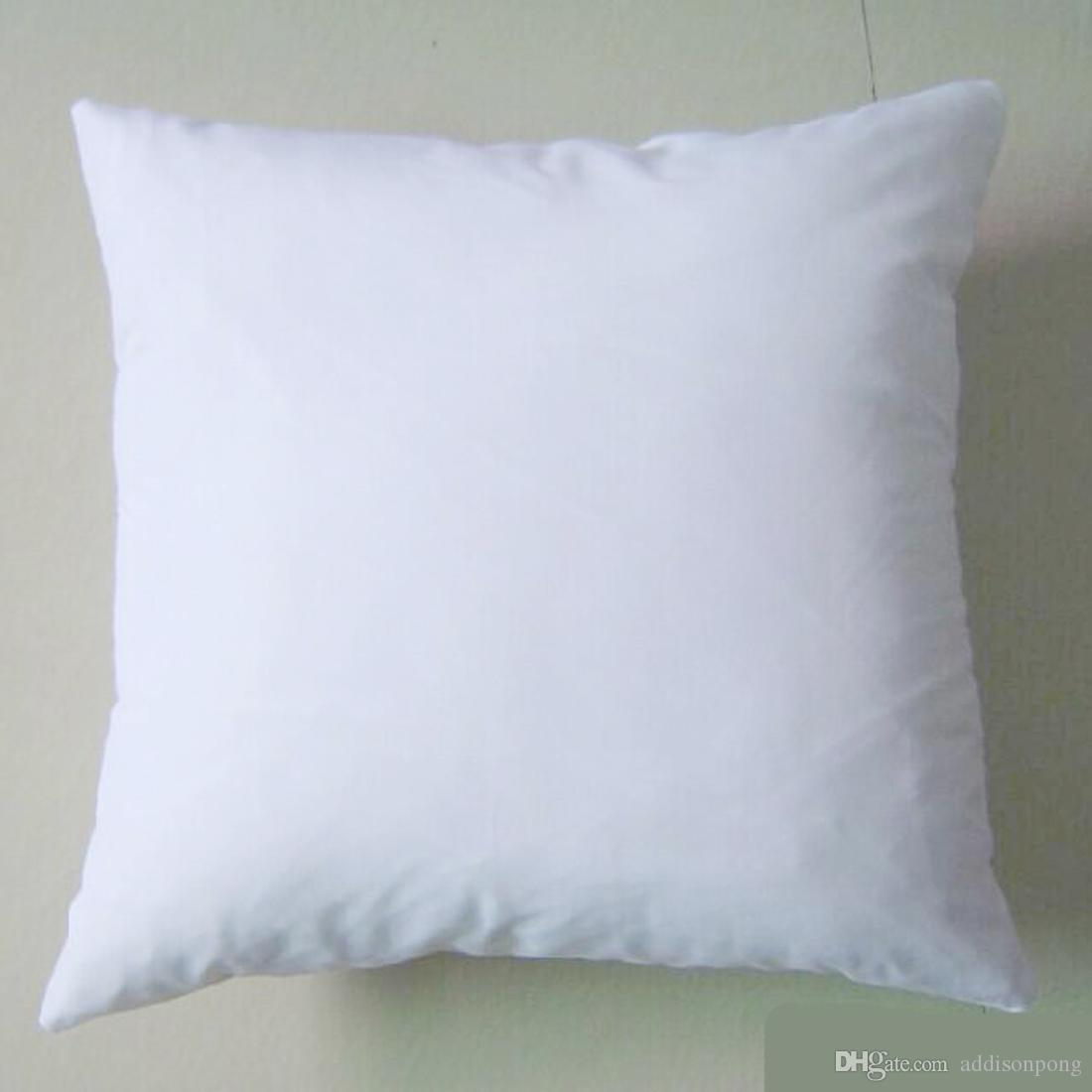 Plain White Color 250gsm Cotton Canvas Cushion Cover With
