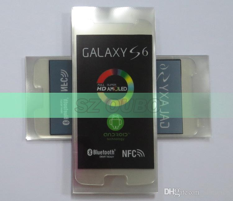 LCD Screen Plastic Seal Factory Screen Protective Film for Samsung S6 Glass Protector Repair Accessories