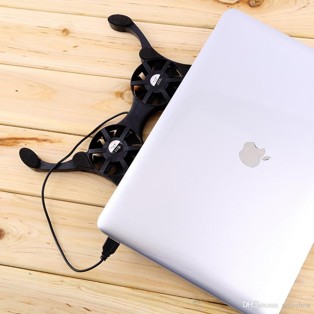 Ventilatore pieghevole del coller del dispositivo di raffreddamento del cuscinetto di raffreddamento del dispositivo di raffreddamento del dispositivo di raffreddamento del mini del computer portatile del polipo di USB con la scatola al minuto Trasporto libero
