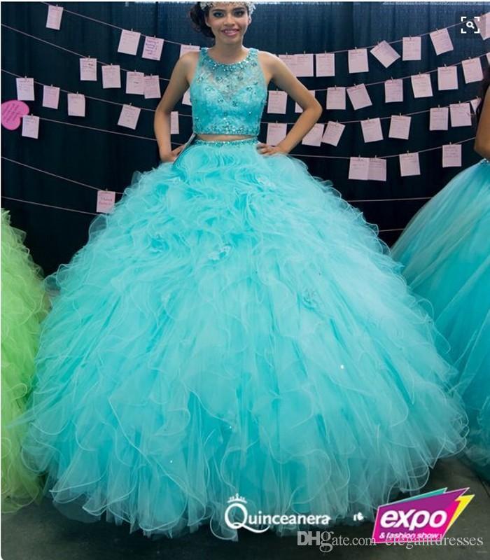 2019ファッション販売の販売中の無料配送オーガンザヒョウ恋人ボールガウンQuinceaneraドレスS083