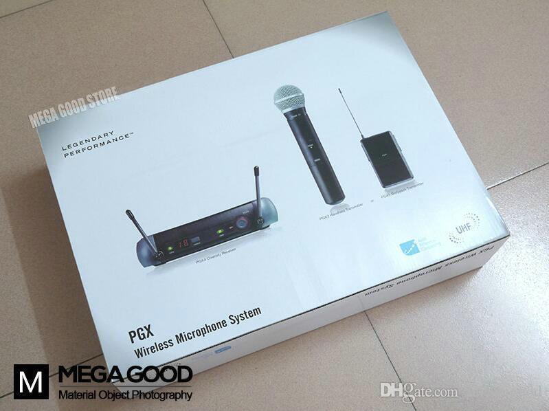 Microfoon Free PGX PGX14 WL93 UHF Professional Karaoke Wireless Microphone System with Lapel Lavalier Collar Clip Mic 800-820Mhz