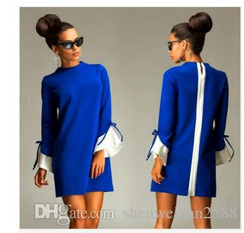 barato o vestido grande da cor das mulheres novas do inverno LYQ179