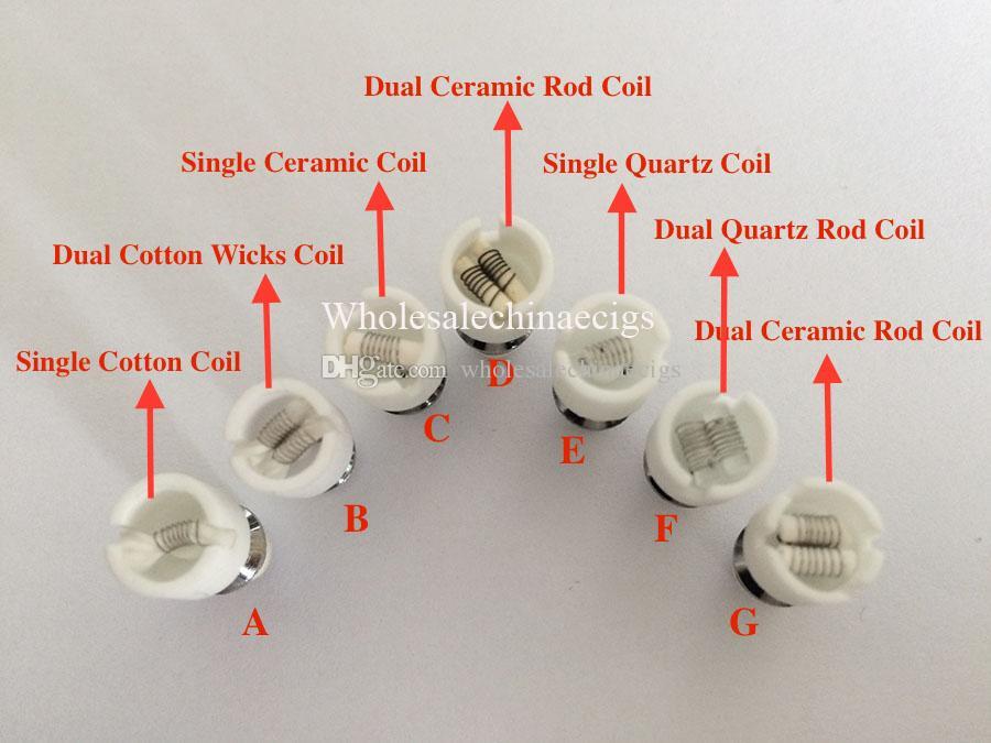 Cuarzo atomizador de doble bobina de cera de cerámica Donut núcleo de atomizador reconstruible para la cera Bolso de vidrio globo de vaporizador de vapor a base de hierbas e cigs