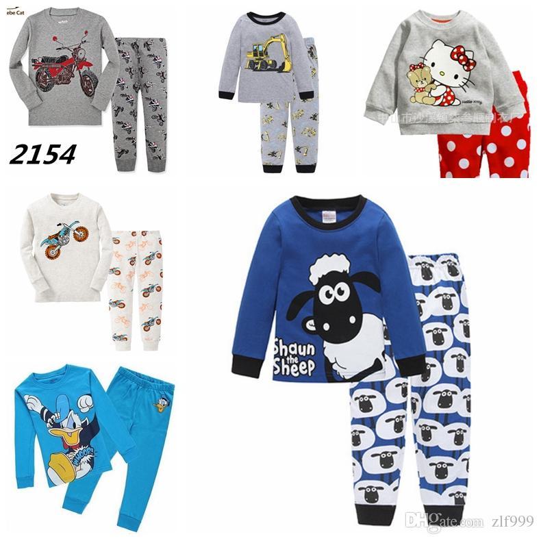 181c93888ab56 Acheter Pyjamas De Coton De Bande Dessinée Vache Laitière Vente Chaude  Ensemble 2 7 Ans Enfants Vêtements De Nuit En Coton Bébé Vêtements  Ensembles Enfants ...